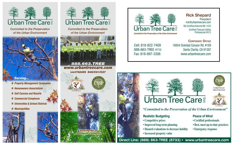 Urban Tree Care website, brochures