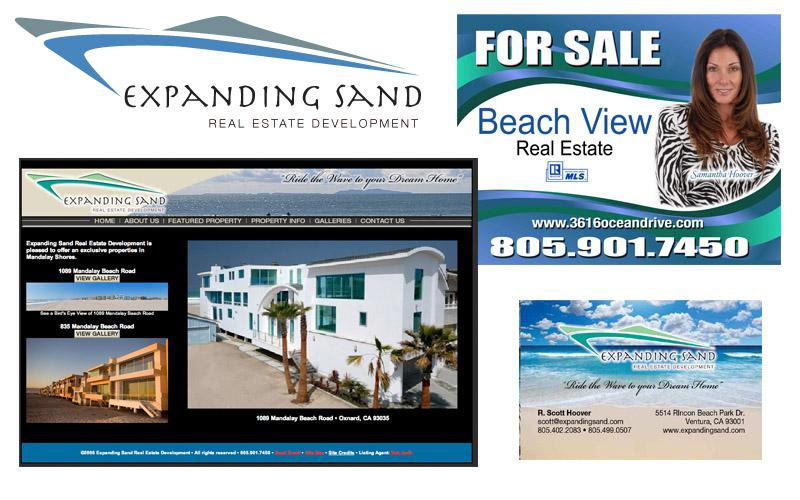 Expanding Sand logo, brochures, website
