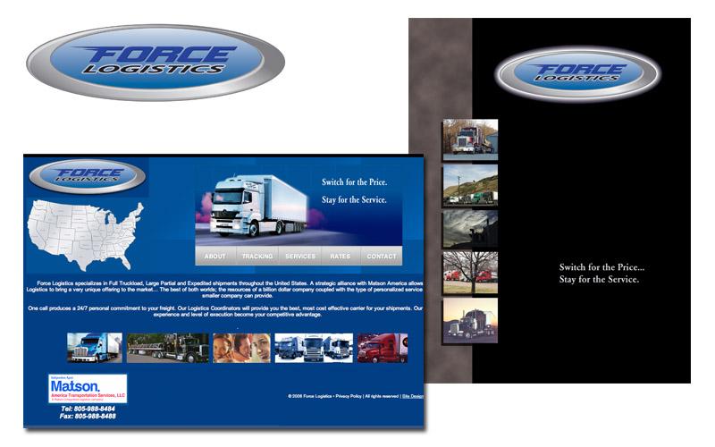 Force Logistics logo, brochures, website