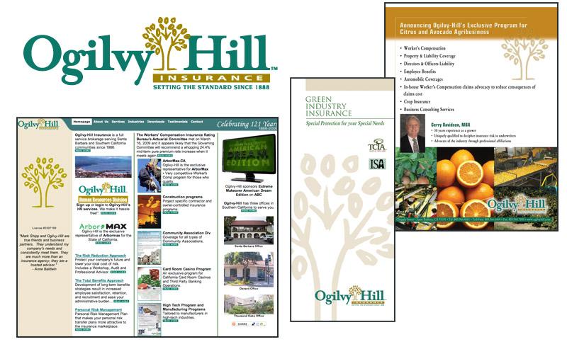 Ogilvy Hill website, literature, ads