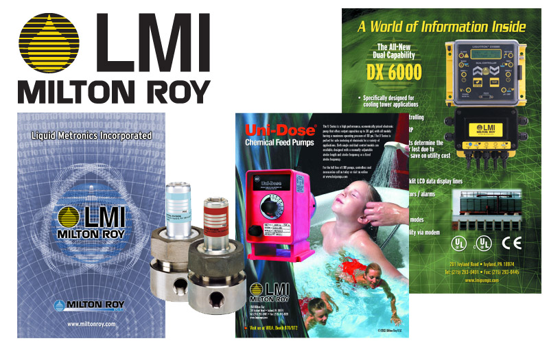 LMI logo, ads, literature, photography