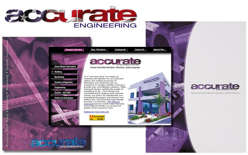 Accurate Engineering logo, brochures, websites