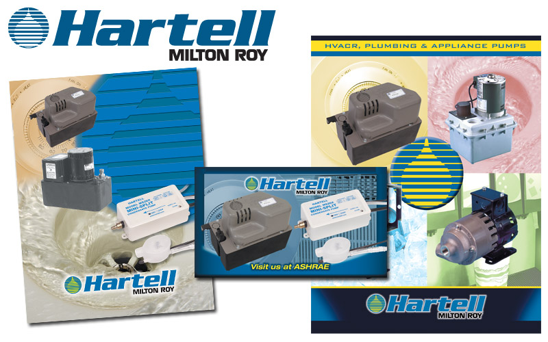 Hartell logo, photography, ads, literature