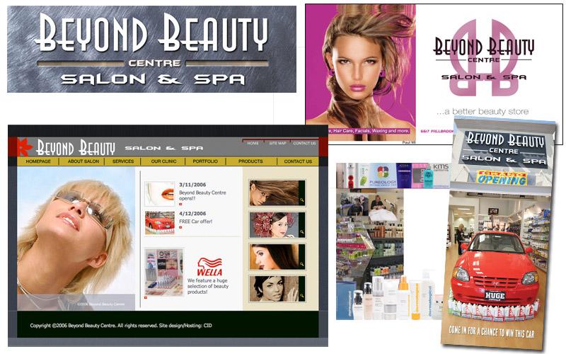 Beyond Beauty logo, website, literature, marketing materials