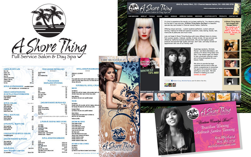 Shore thing logo, brochures, website, photography