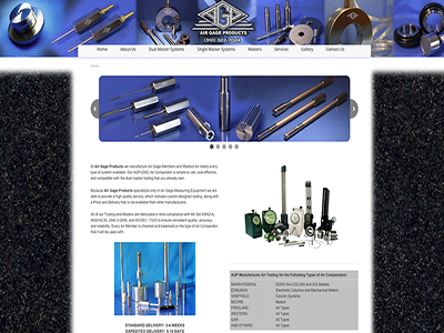 Air Gage Products website and management
