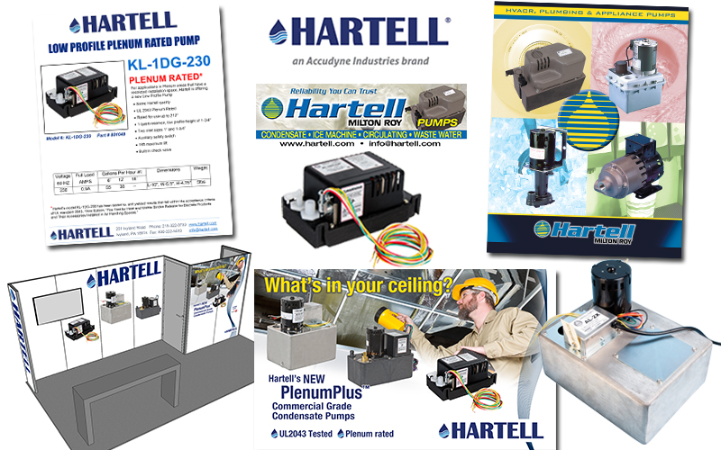 Hartell logo, literature, ads, photography