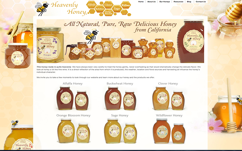 Heavenly Honey website