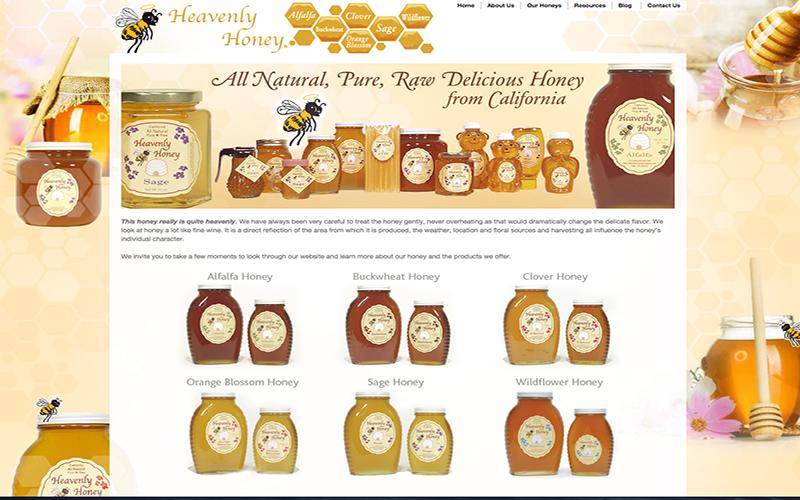Heavenly Honey website