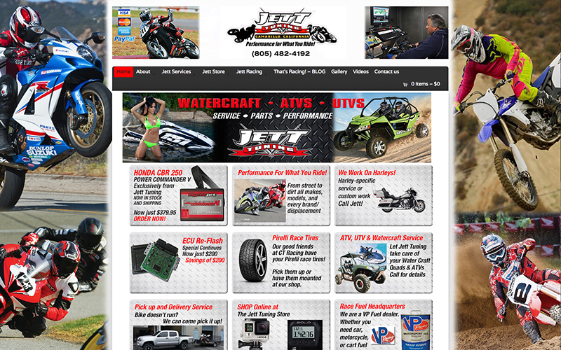 Jett Tuning  website and management