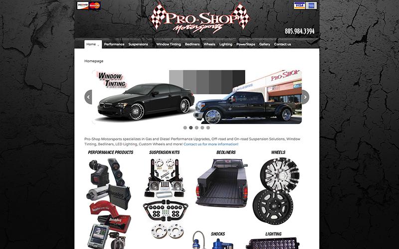 Pro Shop website