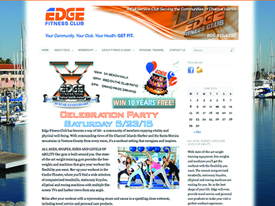 The Edge Gym  website and management