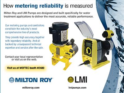 LMI and Milton Roy logos, ads, brochures, web elements