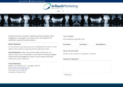 In Touch Marketing  website and management