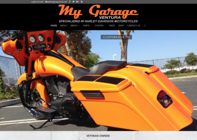 My Garage Ventura  website and management