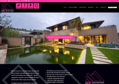 Bonaire Electric website and management