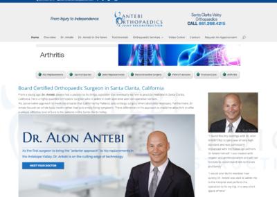 Dr Antebi  website and management