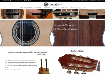 Classic Guitar International websites and marketing materials