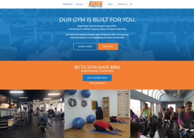 Edge Fitness Club website