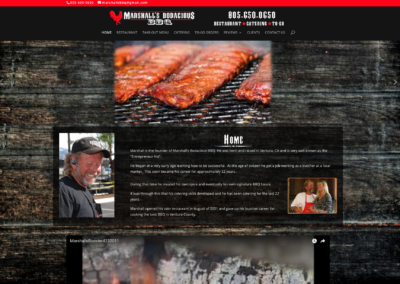 Marshalls Bodacious BBQ website Web design at Channel Islands Design (CID)