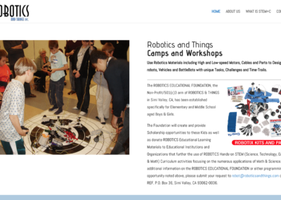 Robotics and Things Events website