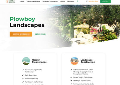 Plowboy Landscapes website