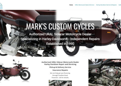 Mark's Custom Cycle website