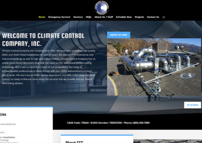 Climate Control Co website