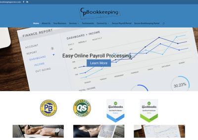 CP Bookkeeping website